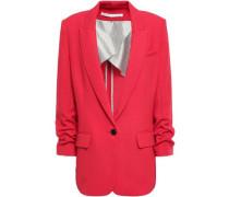Graham Gathered Crepe Blazer Red Size 00