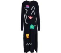 Intarsia wool-blend midi dress