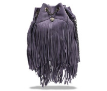Fringed Leather Bucket Bag Lilac Size --