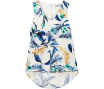 Annora Printed Stretch-modal Jersey Top White