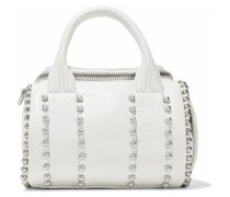 Rockie studded pebbled-leather tote
