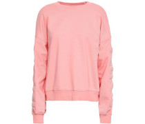Quilted French Cotton-terry Sweatshirt Peach