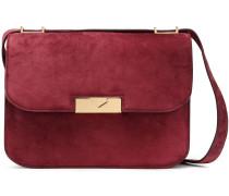 Woman Eva Suede Shoulder Bag Claret