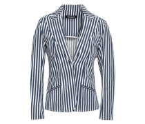 Striped Cotton-blend Blazer Indigo