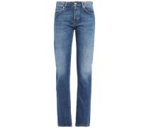 Woman High-rise Straight-leg Jeans Mid Denim