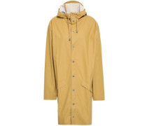Coated Shell Hooded Raincoat Mustard  /M
