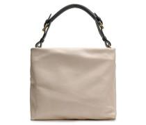 Woman Maxi Strap Pebbled-leather Shoulder Bag Beige