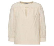 Woman Silk And Cotton-blend Fil Coupé Top Ivory