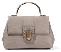 Lucia Lizard-effect Leather Tote Taupe Size --