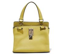 Embellished Pebbled-leather Shoulder Bag Chartreuse Size --