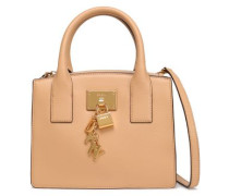Textured-leather Tote Sand Size --