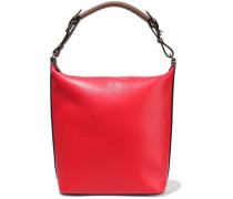 Textured-leather Tote Tomato Red Size --
