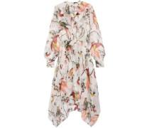 Twist-front crepe mini dress