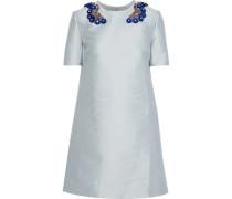 Woman Embellished Duchesse-satin Mini Dress Sky Blue