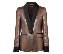 Metallic Lamé Blazer Rose Gold Size 0