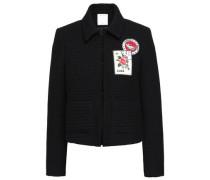 Appliquéd Jacquard Jacket Black