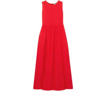 Silk-crepe Maxi Dress Red