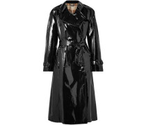 Coated-cotton trench coat
