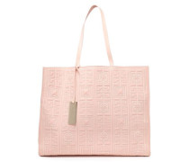 Quilted Patent And Smooth-leather Tote Blush Size --