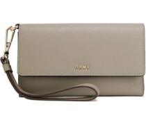 Textured-leather Wallet Mushroom Size --