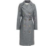 Linen Trench Coat Anthracite