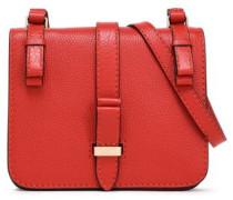 Textured-leather Shoulder Bag Copper Size --