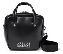 Ivy Small Logo-appliquéd Glossed-leather Shoulder Bag Black Size --