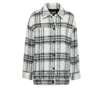 Checked Brushed-felt Jacket Ivory