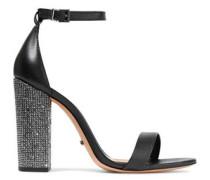 Hara crystal-embellished leather sandals