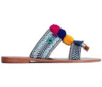 Koshi Embellished Suede Sandals Blue