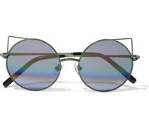 Round-frame Metal Sunglasses Forest Green Size --