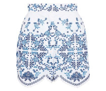 Broderie Anglaise Cotton-blend Shorts White