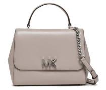 Leather Shoulder Bag Light Gray Size --