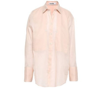 Cotton-organza Shirt Pastel Pink