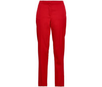 Wool-blend Twill Tapered Pants Crimson