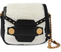 Alter faux shearling and leather shoulder bag