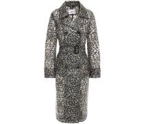 Woman Bethanie Belted Leopard-print Pvc Trench Coat Animal Print