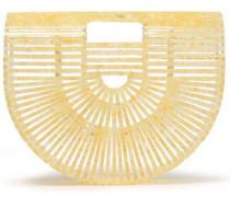 Woman Ark Small Marbled Acrylic Clutch Marigold