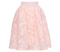 Fil Coupé Flared Skirt Peach