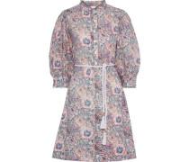 Woman Andre Floral-print Cotton Dress Light Blue
