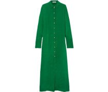 Hero Silk-marocain Maxi Dress Green