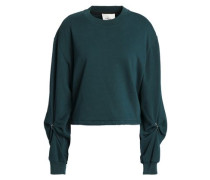 Barbell-embellished French Cotton-terry Sweatshirt Petrol