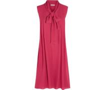 Silk-georgette Dress Bright Pink