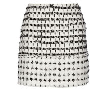 Mari frayed cotton-tweed mini skirt