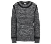 Mélange Knitted Sweater Dark Gray