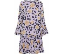 Carlton Gathered Floral-print Georgette Dress Lilac