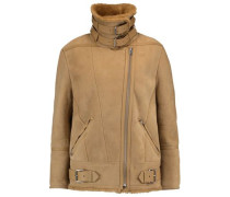 Buckled shearling jacket
