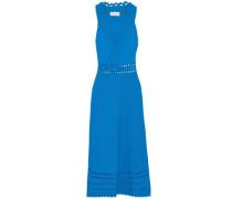 Laser-cut stretch-knit dress