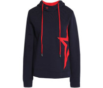 Embroidered cotton-terry hooded sweatshirt