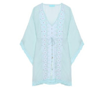 Isabelle embellished embroidered gauze coverup